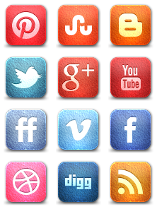 Leather Social Media Icons
